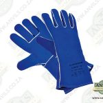 Premium Blue Leather Blacksmith Gloves